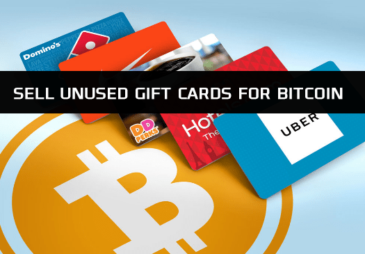 HOW TO EXCHANGE GIFT CARDS FOR BITCOINS